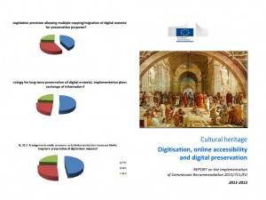 European Commission's Report on Digitisation, Online Accessibility and Digital Preservation of Cultural Material.
