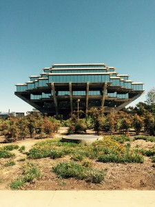 The Geisel Library at UC San Diego, right around the corner from the Supercomputer Center.