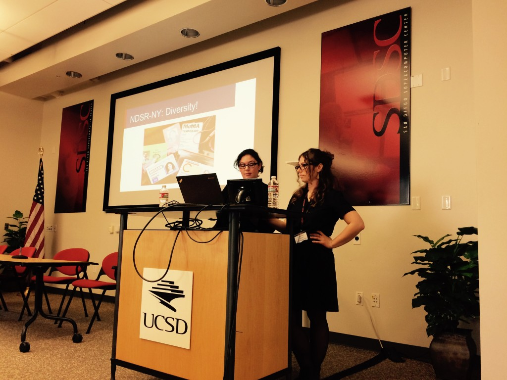 Vicky and I presenting at PASIG 2015