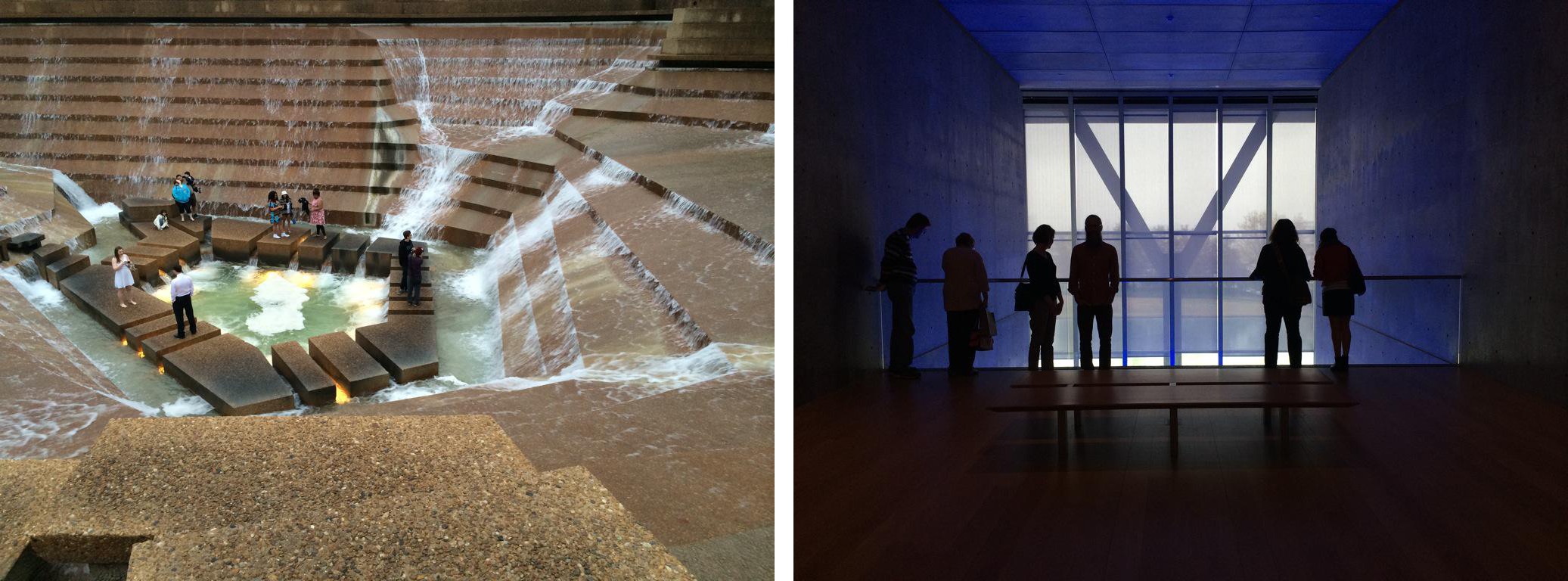 Fort Worths Philip Johnson Designed Water Gardens Left And Tadao Ando