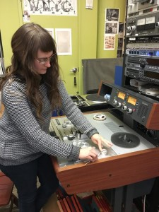 "Some of these tapes ""shed"" their binders onto the heads/spools of the transfer deck. To ensure the best possible audio is transferred from a reel-to-reel tape, Ana must remove debris from the hardware before each transfer."